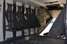 Asientos de lona interior NH-90 (Foto: Fco Javier chao)