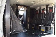 Asientos de lona en el interior de un NH-90 (Foto: Fco Javier chao)