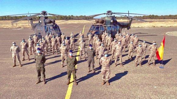 Despedida en la base de Almagro del contingente ISPUHEL XIII con destino a IRAK. (Foto: @EjercitoTierra).