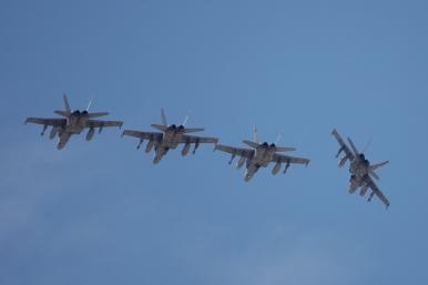 Rotura formación F-18 sobre la 30R (Foto: Fco Javier Chao)